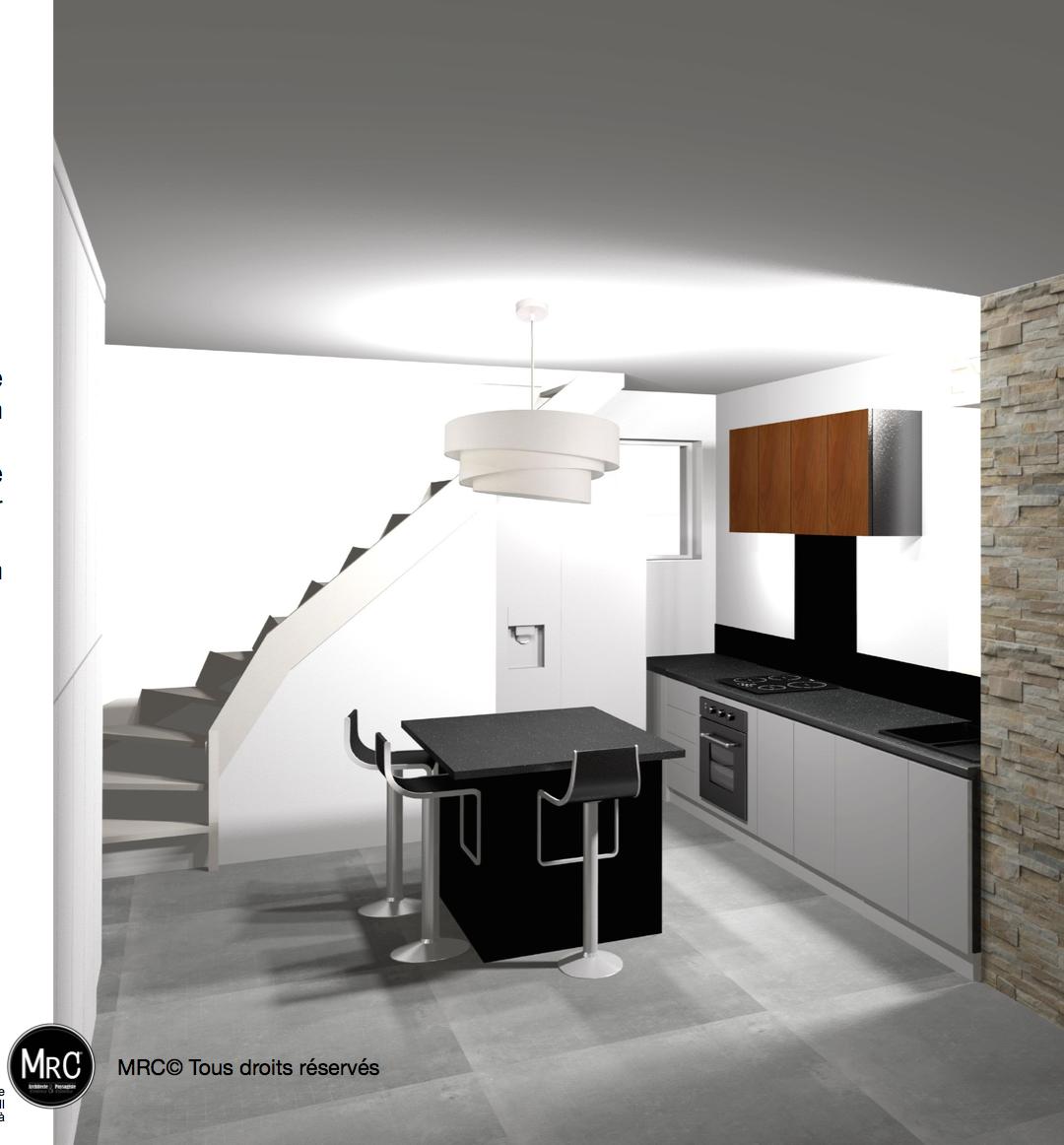 r novation compl te et tude avec visuel d architecte d. Black Bedroom Furniture Sets. Home Design Ideas