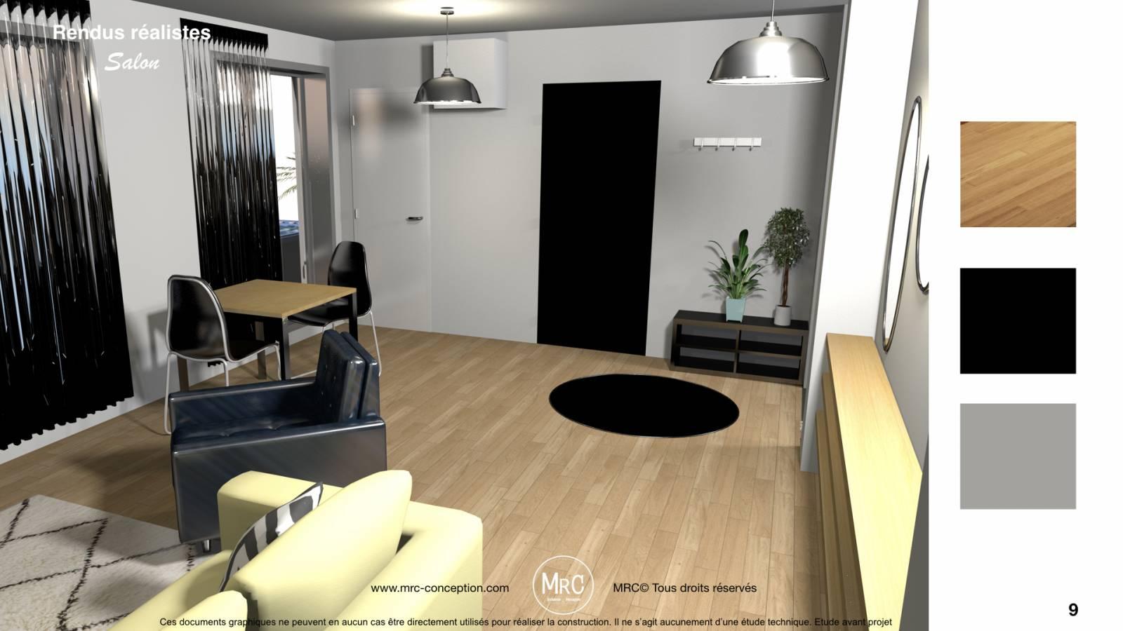 projet r novation d 39 appartement et d coration dans le centre ville de marseille tude d. Black Bedroom Furniture Sets. Home Design Ideas