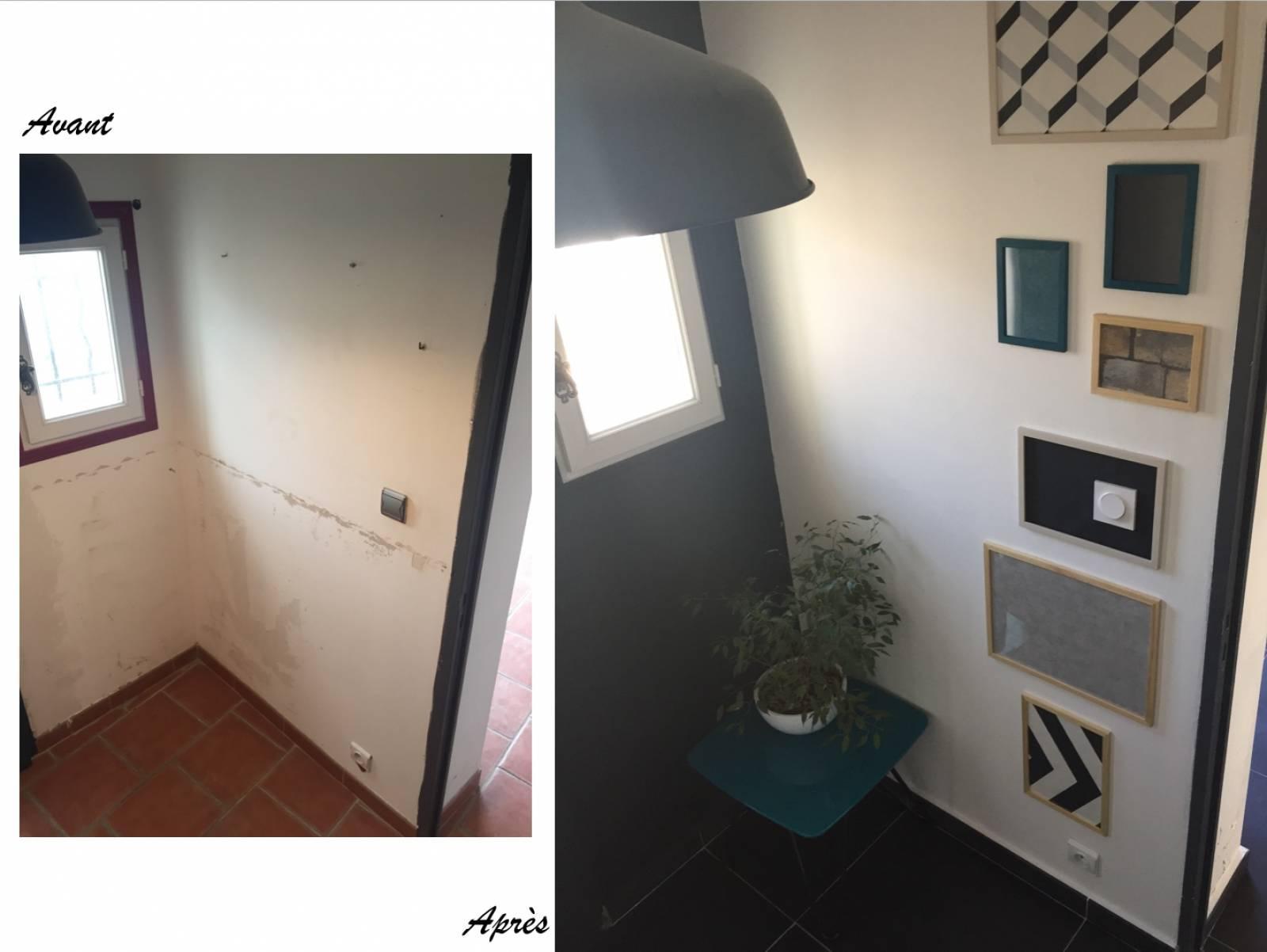 Rénovation totale et décoration de l\'entrée dans une maison atypique ...